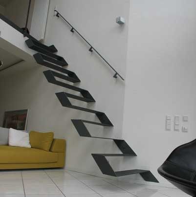 Metall Treppe Idee ~ Home Design Ideen